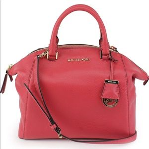 Large Michael Kors Riley in Watermelon Leather